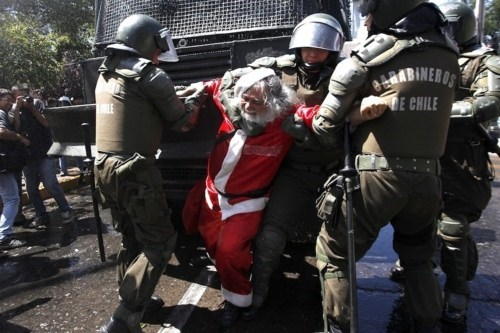Chilean Education Conflic,Chilean Winter,Photo Series,War on Christmas