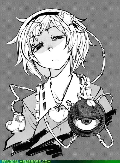 Fan Art manga Satori Komeiji touhou project - 5606849024