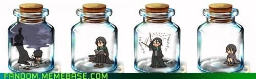 Fan Art,Harry Potter,pixiv bottle,snape