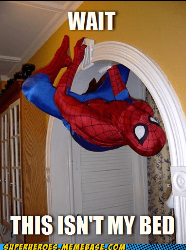 Close Enough Spider-Man Superhero IRL wait - 5608005376