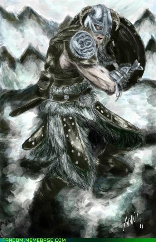 Fan Art nord Skyrim video games - 5608125696