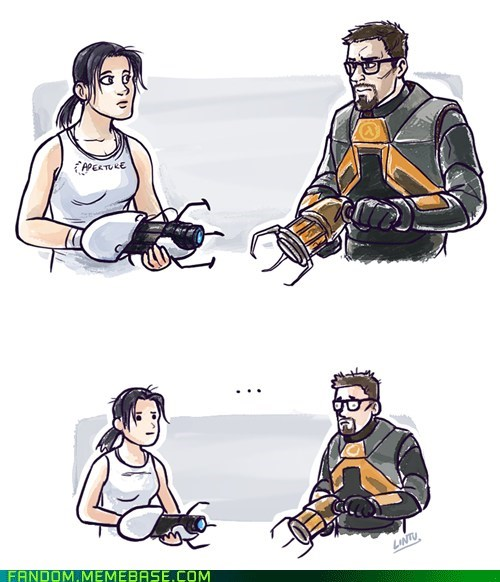 chell,Fan Art,fandom,gordon freeman,half life,Portal,valve,video games