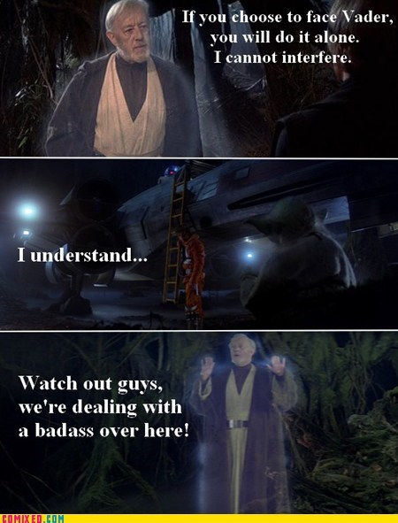 dealing with a badass,meme,star wars,vader,yoda