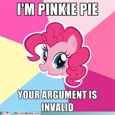 best of week meme pinkie pie smile your argument is invalid - 5609766400