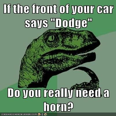 car dodge horn philosoraptor ram - 5609831424