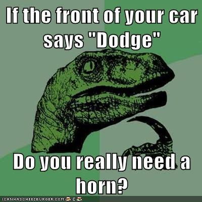 car dodge horn philosoraptor ram - 5609831424