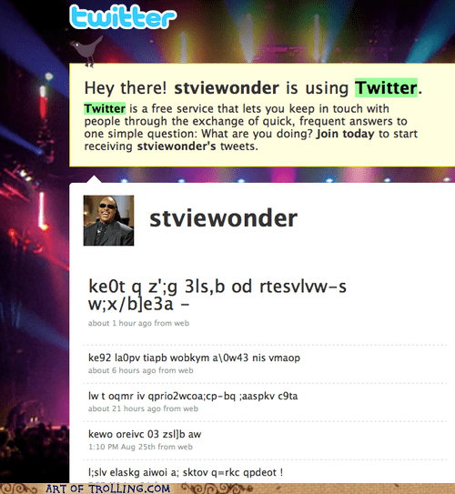 blind stevie wonder tweets - 5610268160