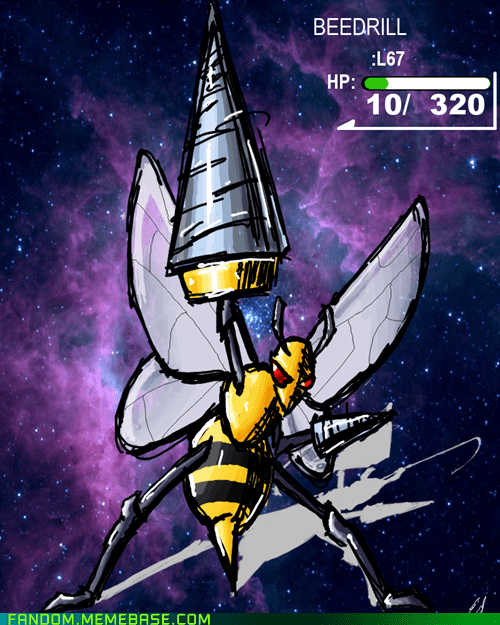 anime beedrill crossover Fan Art Gurren Lagann Pokémon - 5612320768