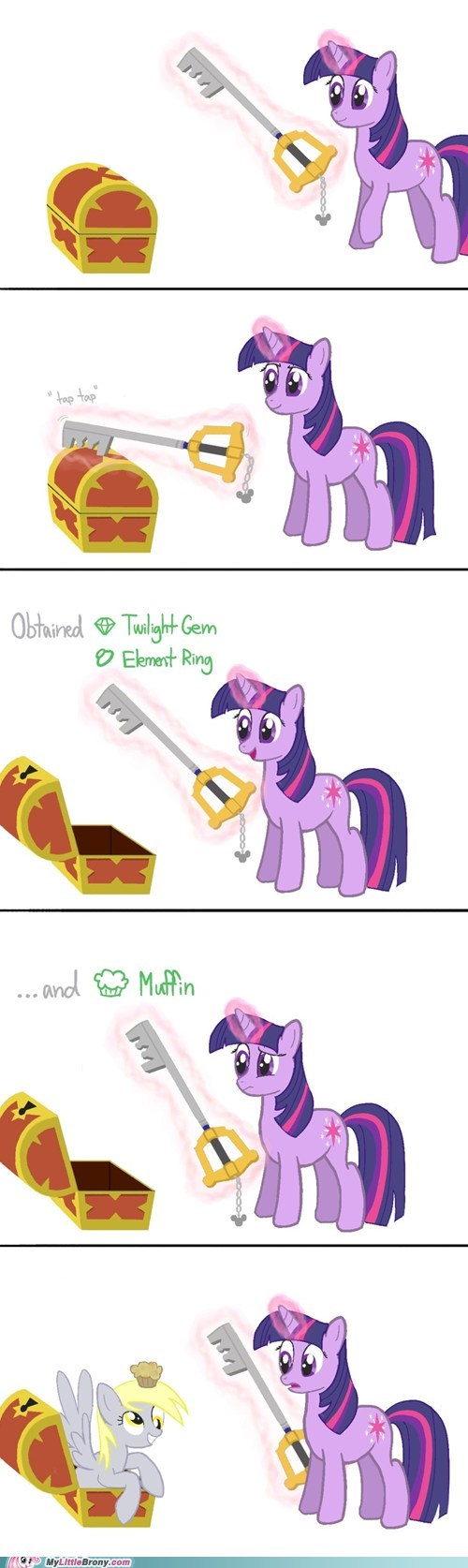 best of week,comics,crossover,derpy hooves,keyblade,kingdom hearts,muffins