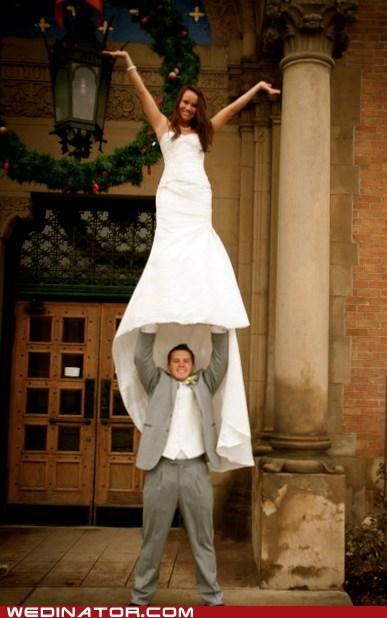 cheer cheerleaders funny wedding photos - 5612916480
