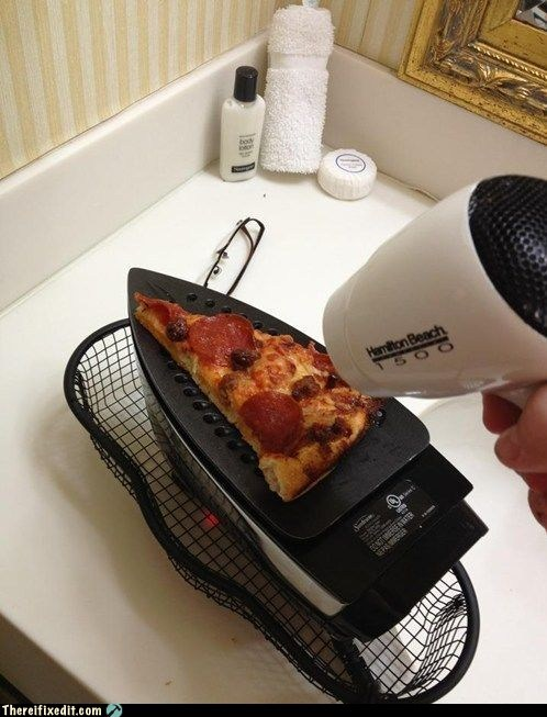blow dryers cooking iron pizza