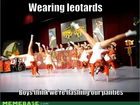 flashing leotard Memes panties - 5613774080