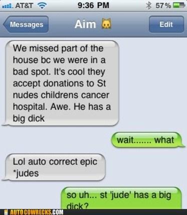 auto correct,dick,judes,nudes