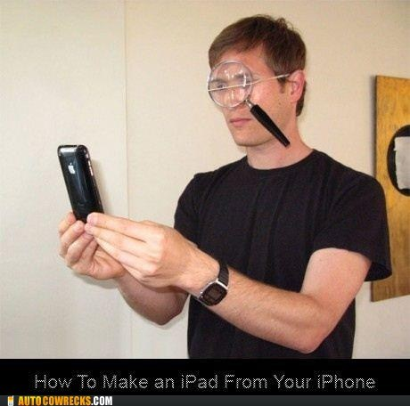 DIY,ipad,iphone,magnifying glass