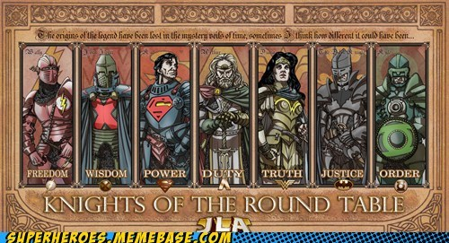 Awesome Art justice league knights of the round table monty python - 5614333440