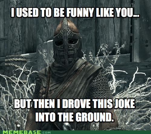 arrow best of week guard jerk knee Memes Skyrim video games - 5614442496