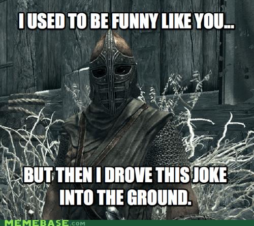 arrow best of week guard jerk knee Memes Skyrim video games - 5614442496