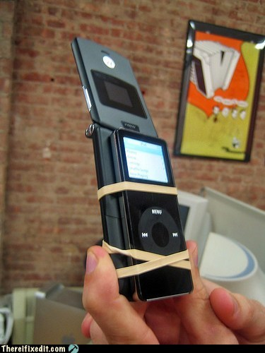 cell phone ipod rubber band technology - 5614908160