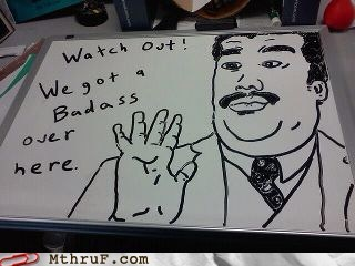 Badass Memes Neil deGrasse Tyson whiteboard art