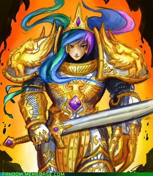 celestia crossover Fan Art warhammer 40k
