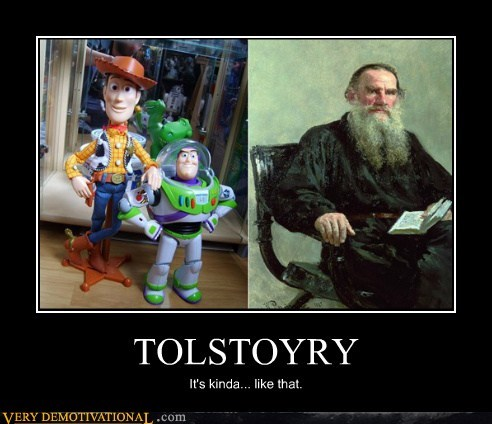 cartoons hilarious tolstoy toy story writer