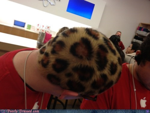 apple store,hair,leopard print,undercover leopard