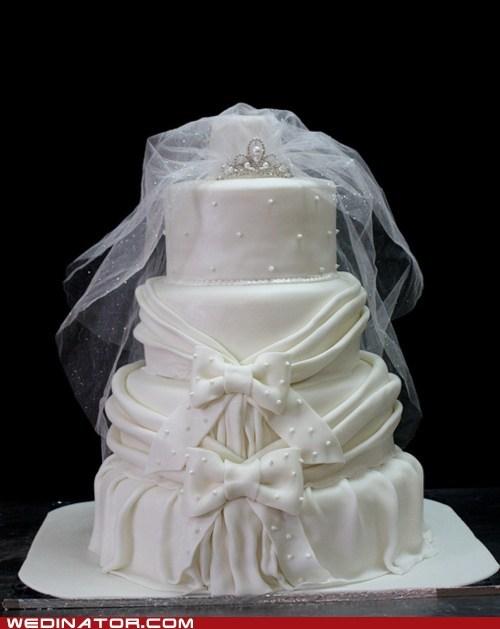funny wedding photos tiara wedding cake - 5615272192