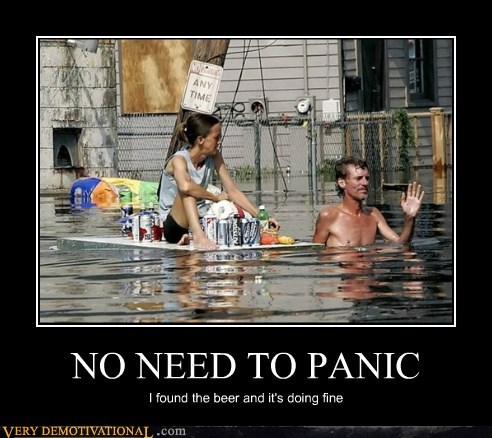 beer,flood,hilarious,panic,redneck