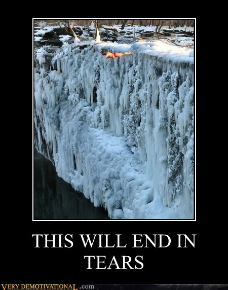 bad idea cliff diving cold idiots tears water - 5615801088