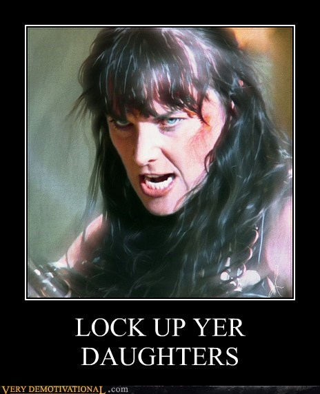 daughters,hilarious,Lucy Lawless,Xena