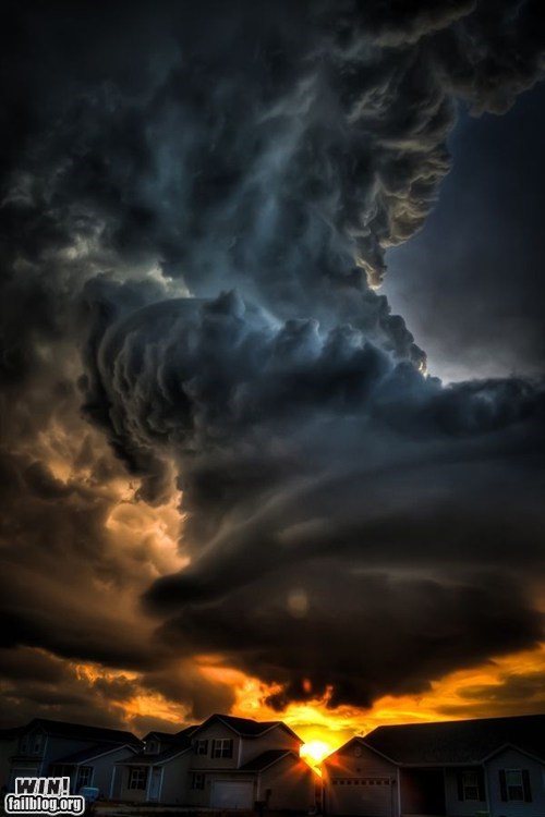 apocalypse,clouds,mother nature ftw,storm,sunrise