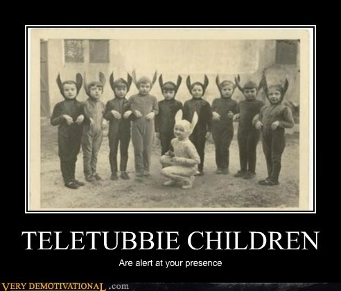 creepy kids teletubbie Terrifying wtf - 5616029440