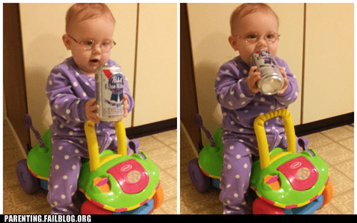 baby beer hipster hipster baby Parenting Fail pbr toddler toy