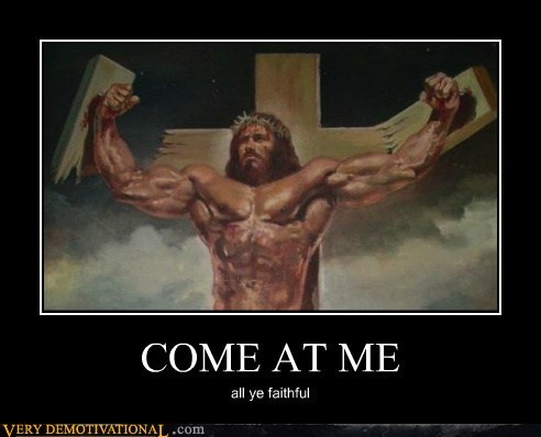 come at me cross hilarious jesus christ - 5616118528