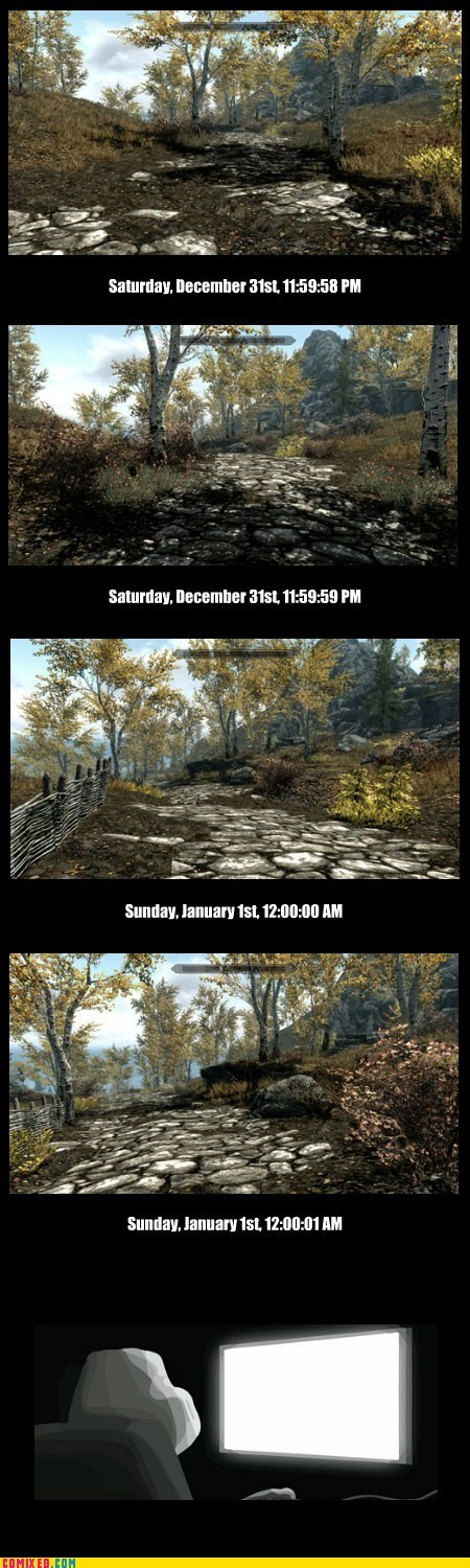 new year new-years-day Skyrim video games