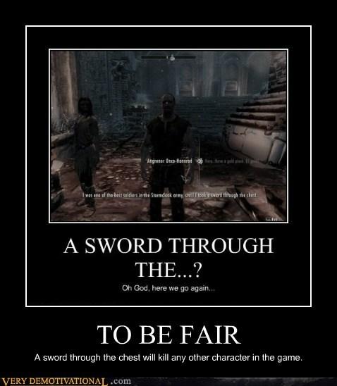 hilarious,Skyrim,sword,wtf