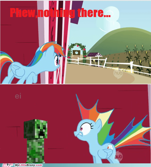 baddies best of week comics creeper minecraft nothing outside rainbow dash - 5616580864