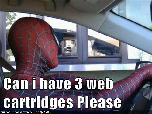 drive thru,Spider-Man,Super-Lols,web cartridges