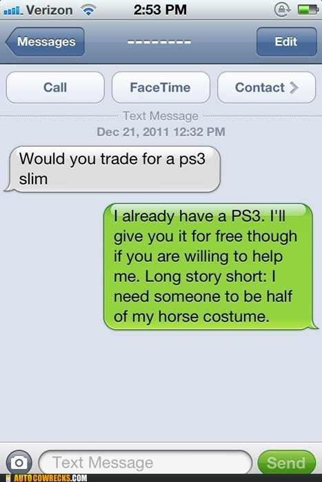 centaur,craigslist,horse,horse costume,ps3,video games