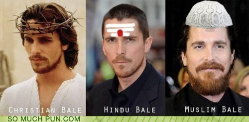 actor,celeb,christian bale,funny,pun