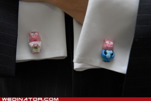 cufflinks funny wedding photos Hall of Fame pig the simpsons