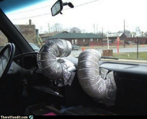 cars,defrost,duct tape,vent