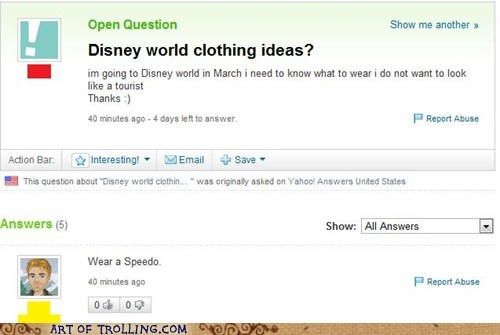 clothes disney world speedo wtf Yahoo Answer Fails - 5617748992