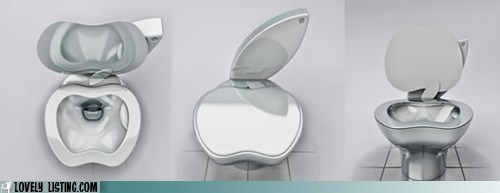 apple bathroom chrome fixture logo silver toilet - 5617830400