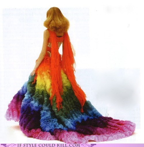 alexander mcqueen cool accessories gown rainbow - 5617831424