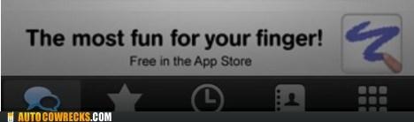 App app store finger fingerbang masturbation slogan - 5617881344