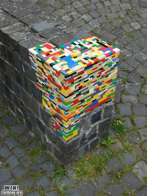 bricks,fix,hacked irl,lego,repair,Street Art,toys