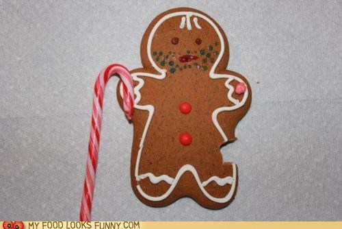 beggar cookies gingerbread man hobo homeless icing stubble - 5617960448