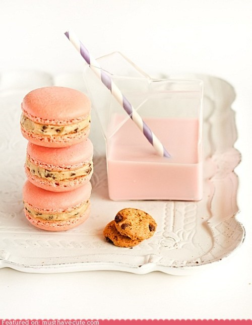 amazing,cookie dough,epicute,macarons,pink,strawberry milk