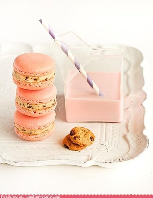 amazing cookie dough epicute macarons pink strawberry milk - 5617970688